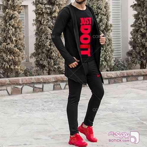 ست هودی و شلوار Nike مدل Boka مشکی سوئیشرت مردانه