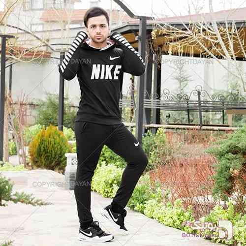 ست سویشرت و شلوار Nike مدل Bernal مشکی ست ورزشی مردانه