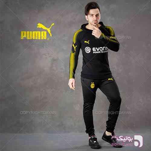 ست سویشرت و شلوار زرد ست ورزشی مردانه