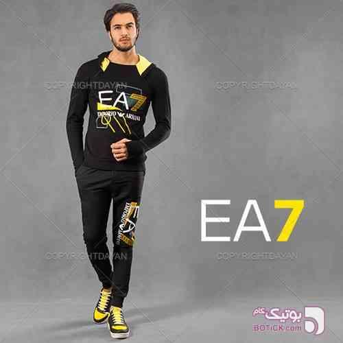 ست سویشرت و شلوار Barla زرد ست ورزشی مردانه