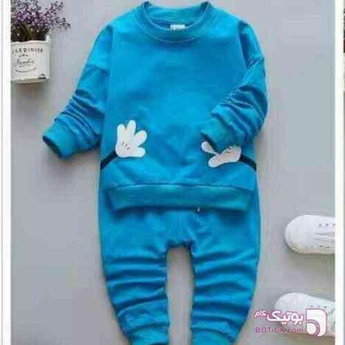 ست اسپرت آبی لباس کودک پسرانه