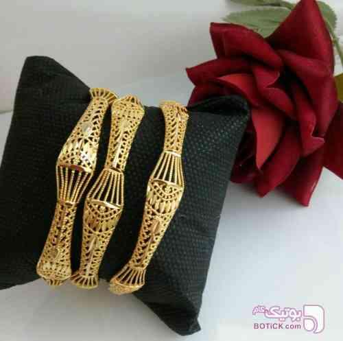 النگوی برنجی جدید زرد دستبند و پابند