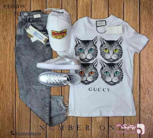 تی شرت gucci سفید تی شرت مردانه