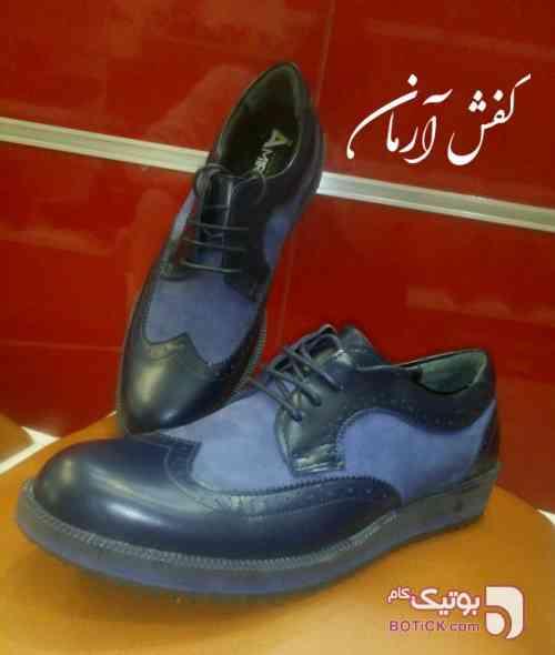 کفش چرم هشتک  آبی كفش مردانه