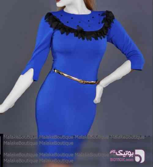 پیراهن مجلسی آبی لباس  مجلسی