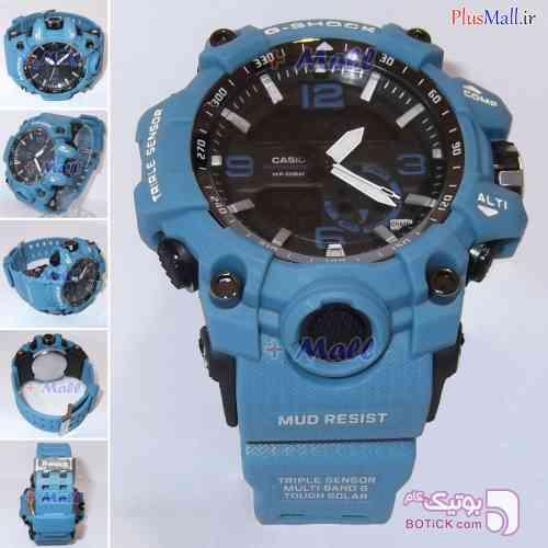 ساعت مچی کاسیو جی شاک مشکی مدل GS960148 آبی ساعت