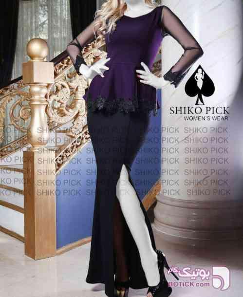 لباس مجلسی مدل ترانه  آبی لباس  مجلسی