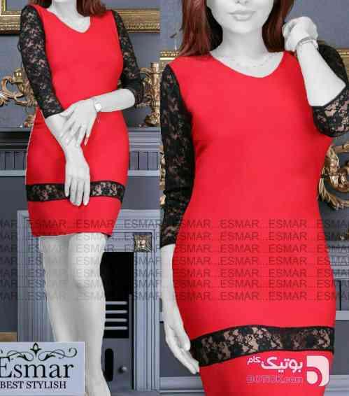 سارافون مجلسی سانای قرمز لباس  مجلسی