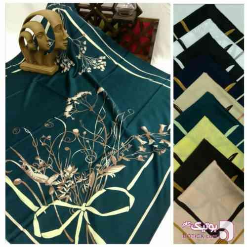 روسریساتنابریشم آبی شال و روسری