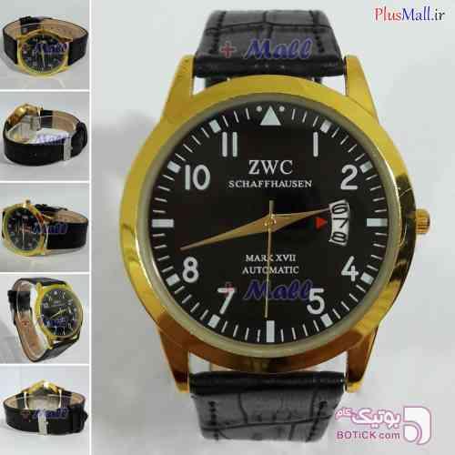 ساعت مچی مردانه ZWC چرم مدل MR960107 زرد ساعت