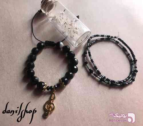 دستبند سُل سنگ عقیق مشکی دستبند و پابند