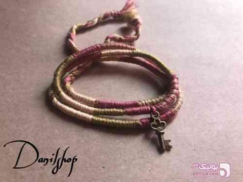 دستبند بافت سه دور سبز دستبند و پابند