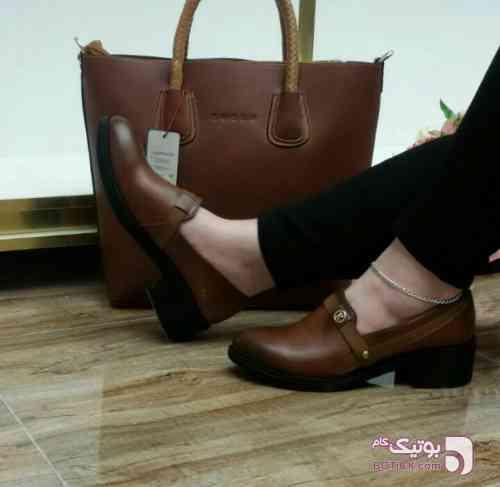 کیف و کفش زنانه قهوه ای كفش زنانه