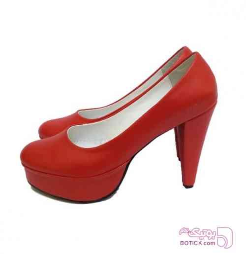 پاشنه 10 سانت سایز بزرگ زنانه  قرمز كفش زنانه