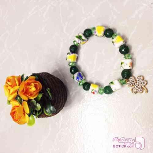 دستبند سنگ و سراميك سبز دستبند و پابند
