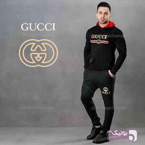 ست سویشرت و شلوار Gucci  مشکی ست ورزشی مردانه