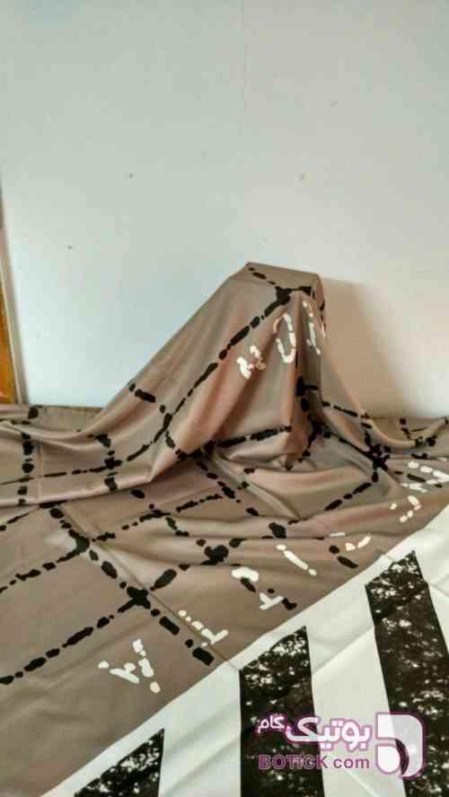 روسری ابریشم توویل قهوه ای شال و روسری