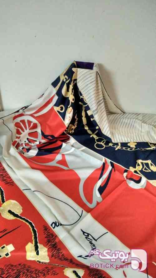 روسری ابریشم توویل قرمز شال و روسری