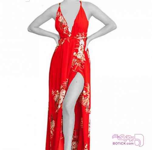 لباس مجلسی ترک قرمز لباس  مجلسی