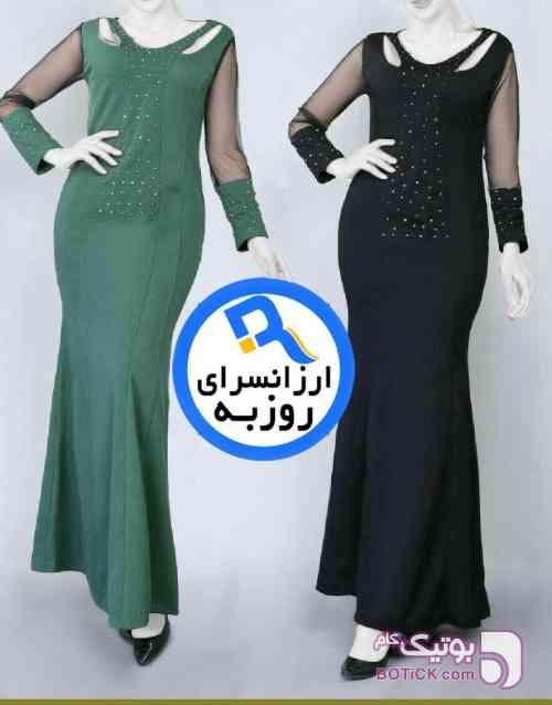 ماکسی پرنسس(سنگدوزی) سبز لباس  مجلسی