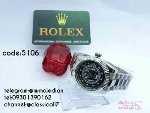 Rolex نقره ای ساعت