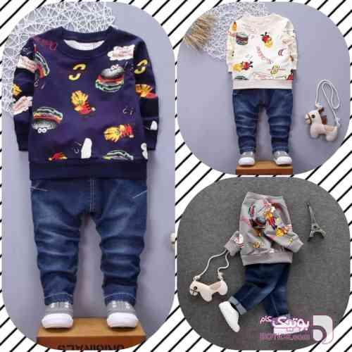 بلوز و شلوار اسپرت سورمه ای لباس کودک پسرانه