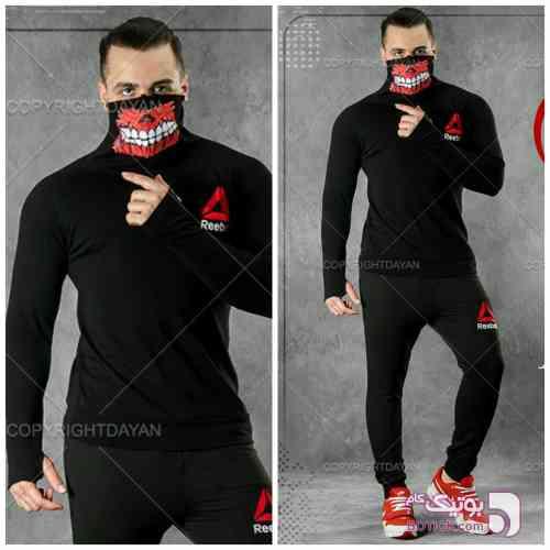 تیشرت آستین دار  شلوارReebok مشکی ست ورزشی مردانه