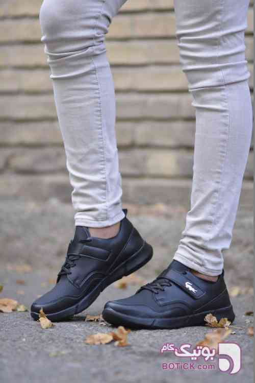 کفش اسپرت lacoste مشکی كتانی مردانه