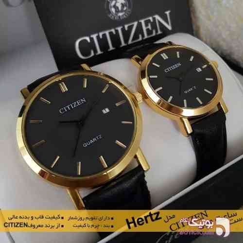ست ساعت مچی CITIZEN مدل Hertz مشکی ساعت