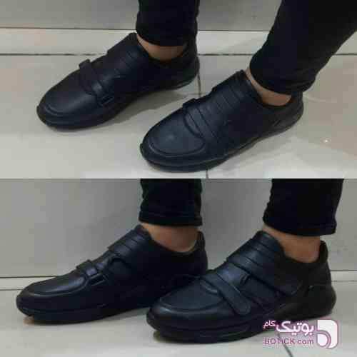 کفش طرح چسبی مشکی كفش مردانه