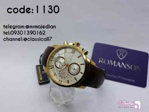 Romanson مشکی ساعت
