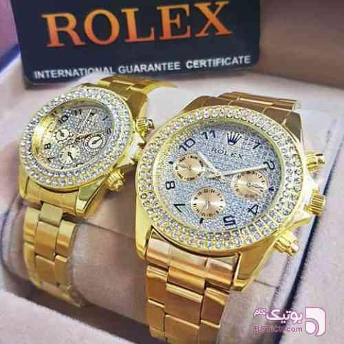 ست ساعت زنانه و مردانه زرد ساعت