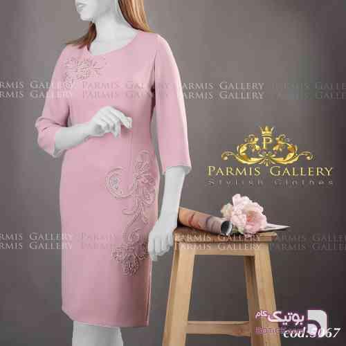 لباس مجلسی صورتی لباس  مجلسی