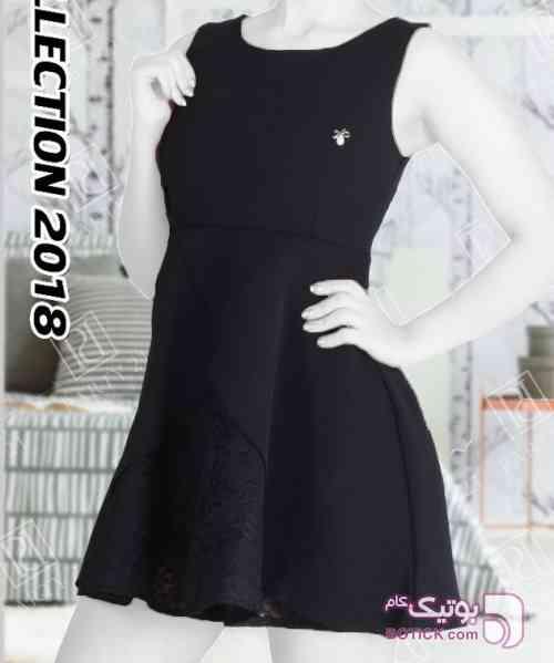 لباس مجلسی کوتاه دخترانه  آبی لباس  مجلسی