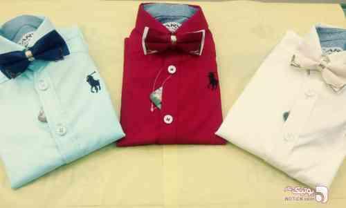 پیراهن ساتن کش پسرانه - لباس کودک پسرانه