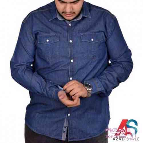 پیراهن جین سایز بزرگ - سایز بزرگ مردانه
