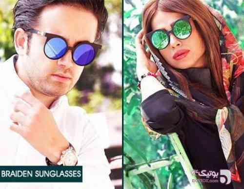 عینک لاکچری braiden سبز عینک آفتابی