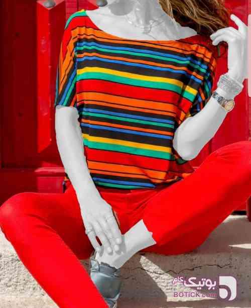 پیراهن ترک قرمز پيراهن زنانه