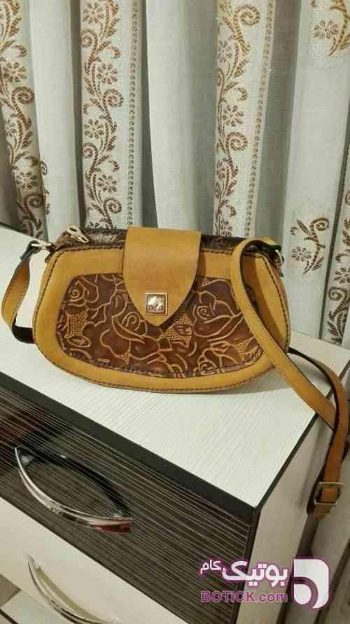 کیف دوشی زنانه قهوه ای كيف زنانه