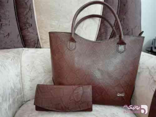 کیف چرم ماری قهوه ای كيف زنانه