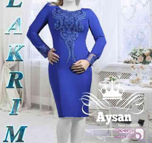 سارافون مجلسی آبی لباس  مجلسی