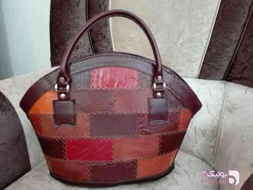 کیف چهل تیکه قهوه ای كيف زنانه