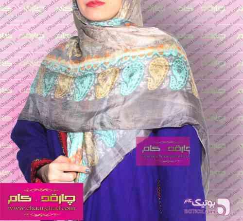 یالق ترکمنی کرم شال و روسری
