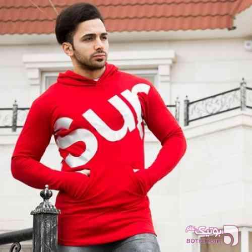 سویشرت مردانه Supreme مدل Olta قرمز سوئیشرت مردانه