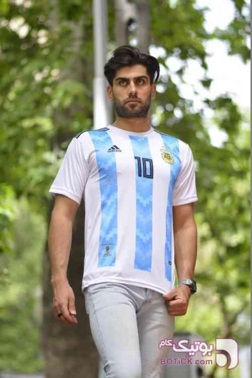 تيشرت جام جهاني كشور آرژانتين آبی ست ورزشی مردانه
