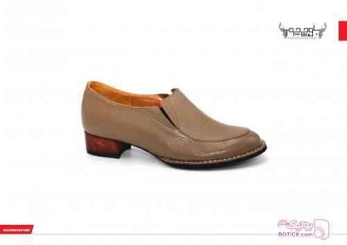 کفش چرم زنانه قهوه ای كفش زنانه