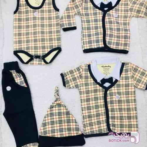 ست 5 تیکه نوزاد مجلسی مشکی لباس کودک پسرانه