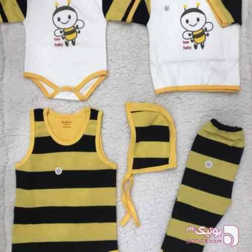 ست 5 تیکه نوزاد طرح زنبور زرد لباس کودک پسرانه