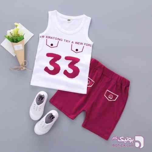 33 زرشکی لباس کودک پسرانه