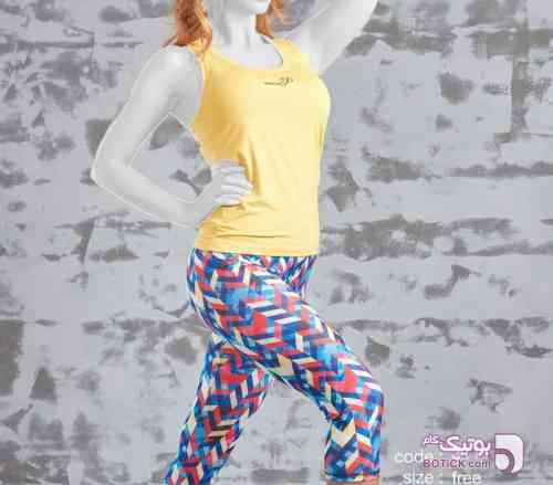 ست تاپ و شلوار ورزشی زرد ست ورزشی زنانه